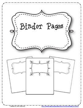 Binder Pages