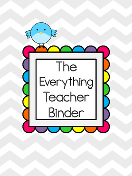 The Everything Teacher Binder {Cover Pages - Tracking - Or