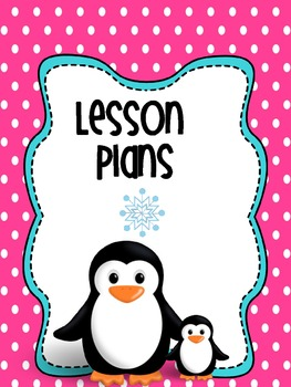 Binder Pink Perky Penguin Teacher Totebook Editable