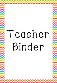 Binder Planner Divider Pages and Forms Bright Rainbow ZigZag