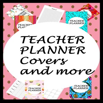 teacher Binder, Planner cover, August - July inserts, task graph and checklist