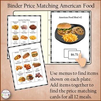 Binder Price Matching Task-American Food