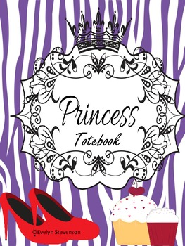 Binder  Purple Pretty Princess Teacher Totebook