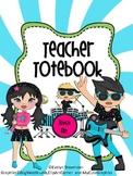 Binder Rock and Roll Teacher Totebook