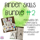 Binder Skills Bundle #2- Letters, Numbers, and Shapes