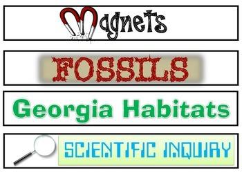Binder Spine Labels GA 3rd Grade Science