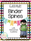 Binder Spines - Editable!
