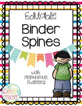 Binder Spines - Editable!