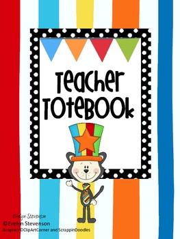 "Binder The ""All That Cat"" Teacher Totebook"
