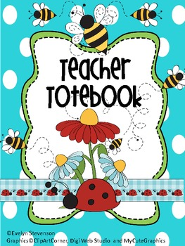 Binder The Beauty and The Bees Teacher Totebook