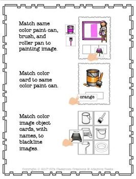 Binder and File Folder Match Painter Supplies and Colors