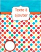 Binder covers -Colourful Polka dots EDITABLE/Couvertures-