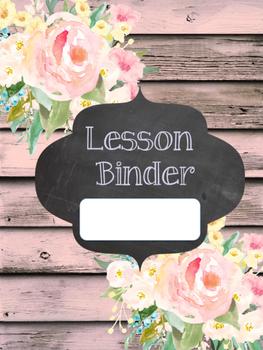 Binder covers Shabby Chic Flowers