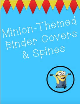 Binder covers & spines - Funky & Fun Minion Theme