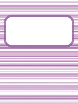 Binder covers with matching side labels and backs
