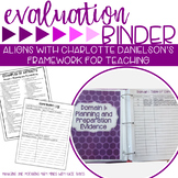 Teacher Evaluation Binder Charlotte Danielson Purple Theme