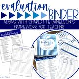 Teacher Evaluation Binder Charlotte Danielson Navy Blue Theme