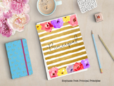 Binder for Principal, Assistant Principal, Director (Floral and Gold)