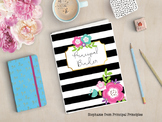 Black and White Binder for Principal, Assistant Principal, Director