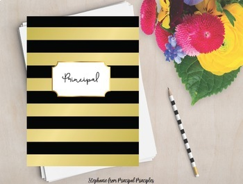 Black and Gold Binder for Principal, Assistant Principal, Director
