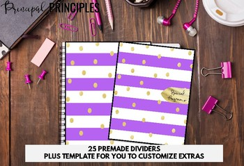 Binder for Principal, Assistant Principal Purple and Gold