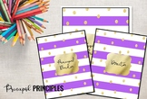 Binder for Principal, Assistant Principal Purple and Gold
