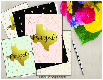 Binder for Principal, Assistant Principal - Texas Gold