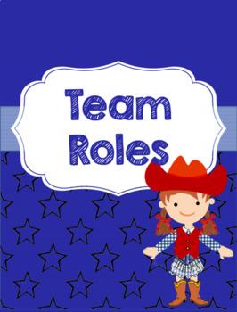 Binder for Team Organization and Documentation- Blue Cowboy Theme