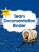Binder for Team Organization and Documentation- Blue Cowboy Theme
