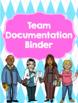 Binder for Team Organization and Documentation- Bright Argyle Theme