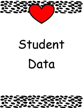 Binder inserts-cow print-student data