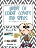 Binder or Folder Covers and Spines