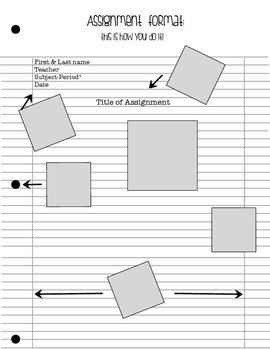 Binder paper(assignment) set up
