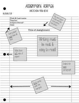 Binder paper(assignment) set up_filled in
