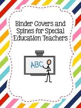 Binders and Spines for Special Education Teachers
