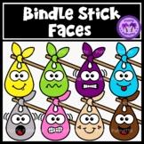 Bindlestick Faces Clipart