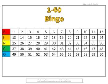 Bingo 1 to 60!