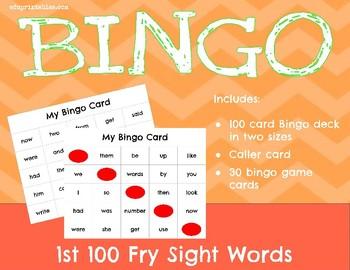 Bingo! 1st 100 Fry Sight Words