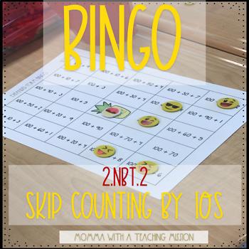 Bingo 2.NBT.2 Skip Counting by 10