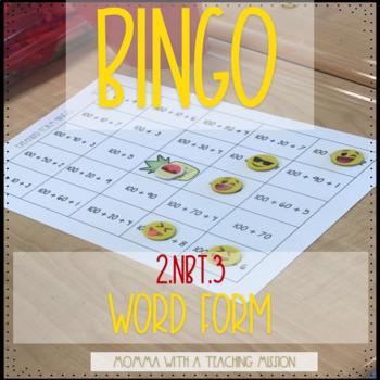 Bingo 2.NBT.3 Number Word Form