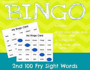 Bingo! 2nd 100 Fry Sight Words