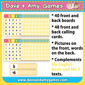 ABC Phonics Bingo: My English Book and Me: Elementary 1 Set B