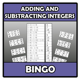Bingo - Adding and subtracting integers - Suma y resta de enteros