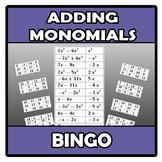 Bingo - Adding monomials - Suma de monomios