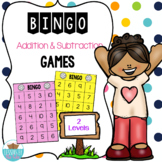 Bingo Addition & Subtraction Sums/ Differences Within 10 or 20