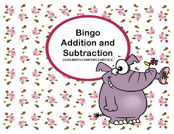 Bingo- Addition and Subtraction within 100- Second Grade-Spring