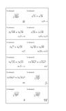 Bingo Algebra - Irrationals and Quadratics