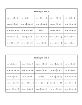 Bingo Algebra - Lines and Systems