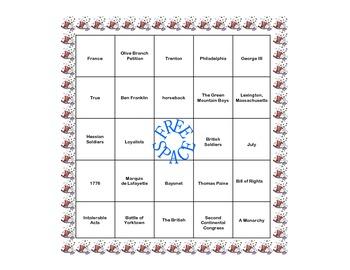 Bingo-American Revolution Review Game