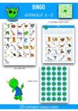 Bingo Animals A to Z  (17 different bingo cards)